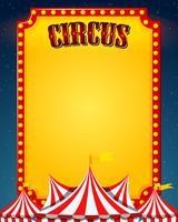 Une frontière de cirque vierge vecteur