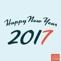 Nouvel an 2017 icône vecteur
