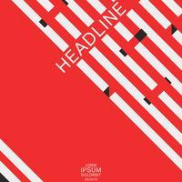 Brochure de couverture de la géométrie vecteur