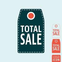 Icône de l'étiquette de vente totale
