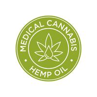 Icône d'huile de chanvre. Cannabis médical. vecteur