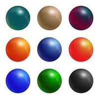 Jeu de boules de couleur vecteur