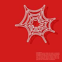 Fond rouge d'Halloween vecteur