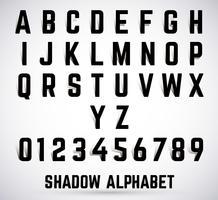 Police de l'ombre alphabet