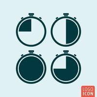Icône de chronomètre isolé