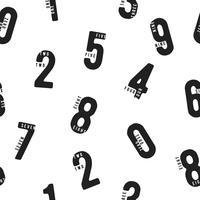 Modèle sans couture avec des nombres vecteur