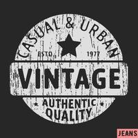 Timbre vintage décontracté et urbain