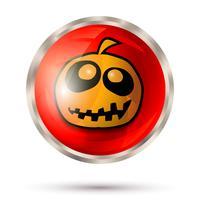 Icône du bouton Halloween vecteur
