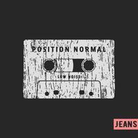 Cachet vintage de cassette compacte vecteur
