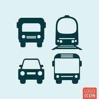 Icône de transport isolé vecteur