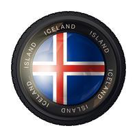 Icône de drapeau de l'Islande