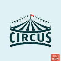 Icône de cirque isolé vecteur