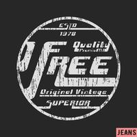 Timbre vintage gratuit