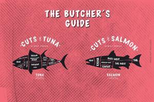 Le guide du boucher, coupe de poisson