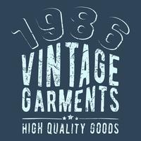Timbre de vêtements vintage