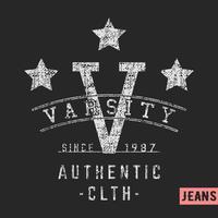 Varsity stars timbre vintage