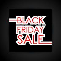 Texte de vente vendredi noir vecteur