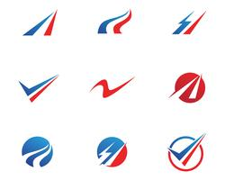 logo finance et symboles vector illustration concept ..