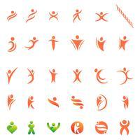 humain icône logo design modèle illustration vectorielle