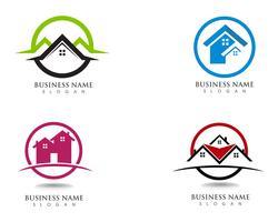 maison bâtiments logo et symboles icônes template vecteur