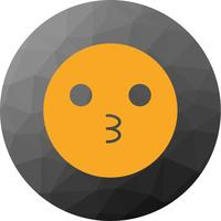 Icône Emoji de baiser de vecteur