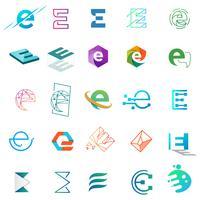 lettre E logo design modèle illustration vectorielle pour marque d'entreprise vecteur