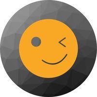 Icône de vecteur Emoji wink