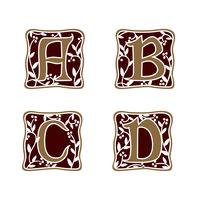 décoration lettre A, B, C, D modèle de concept de design de logo