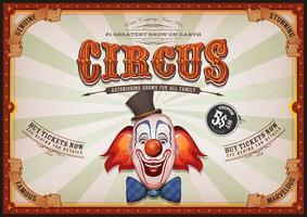 Affiche Vintage De Cirque Avec Tete De Clown