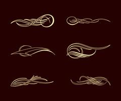 amérique pinstriping style collection ensemble
