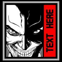Vecteur de dessin main Rire visage du diable - vecteur