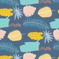 Hand Drawn Textures motif floral abstrait. Illustration vectorielle