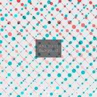 Lignes diagonales abstraites avec motif de points colorés vecteur