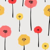 Modèle Avec Fleur Pastel. Fond d'illustration vectorielle vecteur
