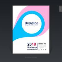 Brochure de l'entreprise colorée géométrique, conception de la couverture, flyer - Illustration vectorielle vecteur