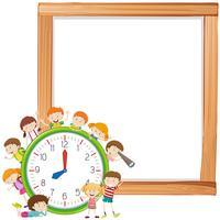 Enfants et modèle de note Clockon