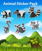 Set pack autocollants animaux