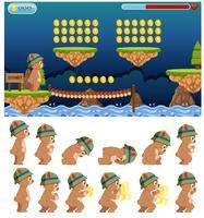 Modèle de jeu de saut à l'ours