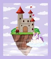 Roi à la scène du château vecteur