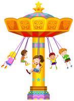 Enfants se balançant en cercle vecteur