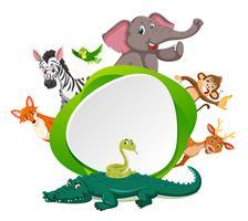 Animal à la bordure verte