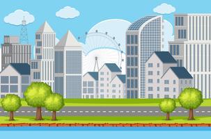 Un paysage urbain de construction vecteur