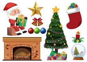 Ensemble d'objets de Noël
