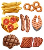 Un ensemble de nourriture occidentale