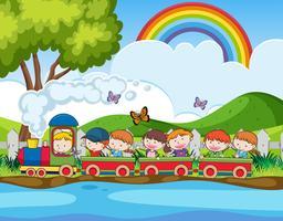 Excursion scolaire en train