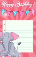 Éléphant sur le modèle de carte