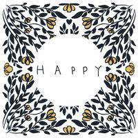 illustration abstraite texture vecteur mandala heureux