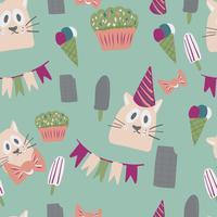 conception de cartes de voeux joyeux anniversaire avec crème glacée vecteur
