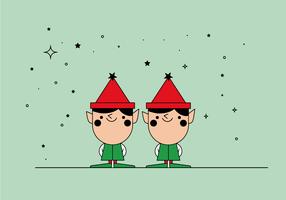 Vecteur gratuit elfes de noel