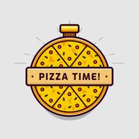 vecteur logo pizza